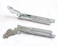 Single pivot long handle oven hinge